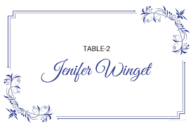 Place Card Printable Template 5 Printable Place Card Templates Designs Free Premium