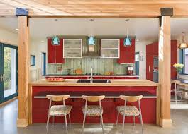 Red And Grey Kitchen Designs Trends For Red Kitchen Cabinet Waraby