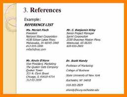 Cv Reference Examples How To Write References On A Resume How To