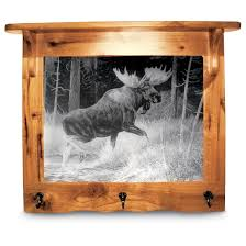 Moose Coat Rack Etched look Mirror and Coat Rack 100 Wall Art at Sportsman's 93