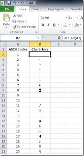 Formula Watch Convert To And From Ascii Codes In Excel