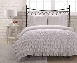 elegant classic bedroom design with miley mini ruffle comforter set white and white twin ruffle bedding