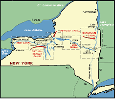 Map Of The Erie Canal Erie Canal Lake Champlain