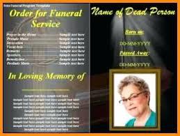 Funeral Program Template Free Gallery Bulletin Editable Microsoft