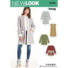 Coat Sewing Patterns Interesting Misses Easy Coat In Two Lengths New Look Sewing Pattern 48 Sew