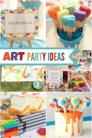 birthday party painting ideas