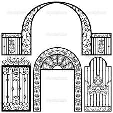 farm fence drawing. 1024x1024 Wrought Iron Moon Gate Farm Fence Drawing
