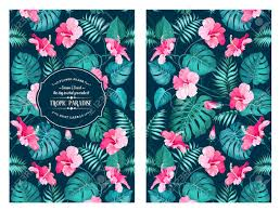 tropical flower pattern on the book cover design blossom flowers for nature background vector