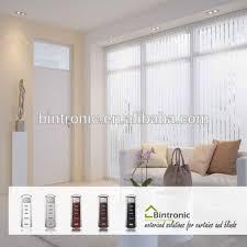 bintronic taiwan electric vertical blind curtain motorized
