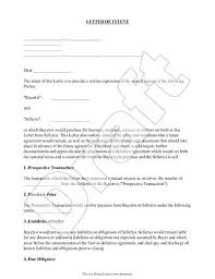 Business Form Letter Template Business Purchase Offer Letter Sample Letter Of Intent Document