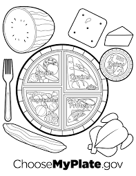 Myplate Coloring Page Pages Nutritioneducationstore Com Remarkable