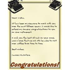 this typewriter stationary is a fun way to commemorate a special persons retirement letter of retirement