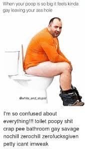 Gay taking a poop