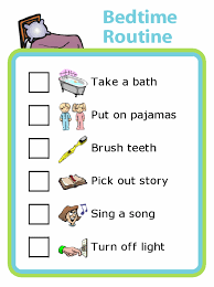 Bedtime Routine Chart Make Your Own List Mobile Or Printed