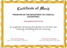 Merit Award Certificate Template Download Merit Certificate Template