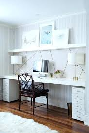 wall desks home office. Wall Desks Home Office Chic Features A Clad In Wallpaper Lined With E