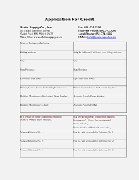 Personal Credit Application Form Free Form Information Ideas
