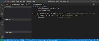 python apps in visual studio code