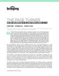 articles bridging international no 2 the page turner