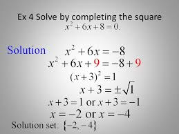 steps in solving quadratic equations by completing the square pdf