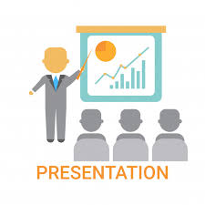Types Of Flip Chart Presentation Business Man Showing Flip Chart With Finance