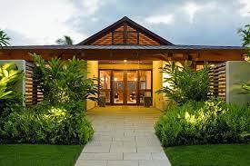 Architectures:Incredible Asian Home Design Wooden Glass Front Door Grey  Stone Floor Neutral Green Garden