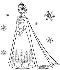Small Picture Disney Frozen Queen Elsa and Princess Anna Coloring Pages