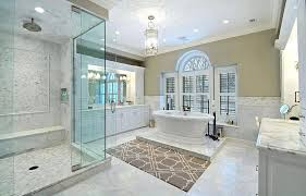 luxury master bathroom shower. Fine Bathroom Luxury Master Bathroom With Dual Side Tub Rainfall Shower White Vanity And  Marble Counters Remodel Ideas Design Pictures On O