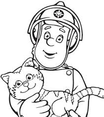 Small Picture Fireman Sam and Cat Colouring In Fireman Sam Activities