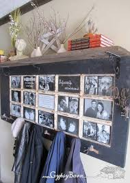 Door Picture Frame Coat Rack Old Door Photo Frame and Coat Rack Ideal for a Hallway Amazing DIY 2