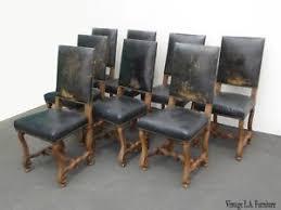 rustic spanish furniture. Image Is Loading Set-of-Eight-Vintage-Spanish-Revival-Rustic-Black- Rustic Spanish Furniture