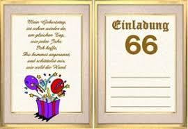 Einladungskarte 66 Geburtstag