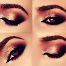 smokey copper arabic makeup