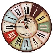 aliexpress com buy creative time vintage wall clocks colourful
