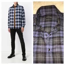 Tom Ford Size Chart Tom Ford Classic Plaid Snap Shirt 40 15 3 4