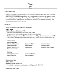 marketing objective example 8 samples in word pdf marketing resume objectives