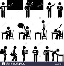 Symbol For Teacher School Teacher Student Class Classroom Symbol Stock Vector Art
