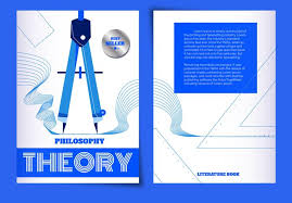 book cover page maker blue concept geometry ruler vector illustration philosophy
