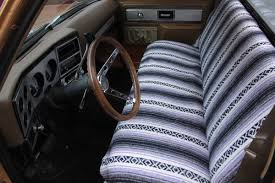 some guys like the look of the southwestern blanket for a seat cover some do not