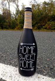 Home Sweet Home Chalkboard Wine Bottle / Rustic by Hinzpirations | For the  Home | Pinterest | Chalkboards, Bottle and Wine