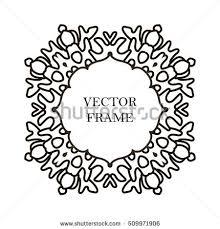 stock vector vector decorative line art frame for design template element for design in eastern style place 509971906 vector decorative line art frame design stock vector 509971921 on frame outline template