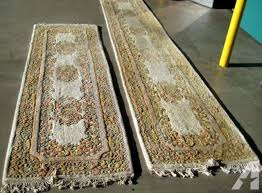 antique hand knotted wool hall rugs made in india
