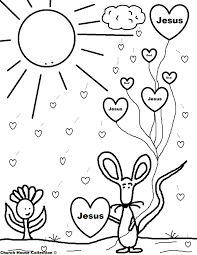 Free Coloring Sheets For Kids Church Wonderful God Loves Me Coloring