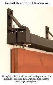 custom interior barn doors sliding barn door mechanism hanging a sliding barn door