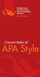Concise Rules Of Apa Style Sixth Edition