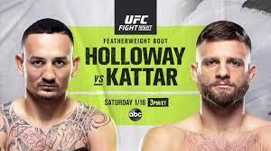 UFC Fight Night tonight: Max Holloway ...