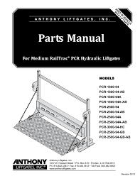 anthony liftgate wiring diagram wiring diagram for you • anthony medium railtrac pcr liftgate parts manual by the liftgate rh issuu com 3 way
