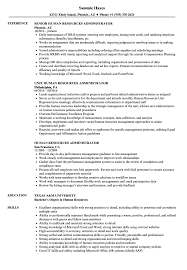 Human Resources Administration Sample Resume Human Resources Administrator Resume Samples Velvet Jobs 13