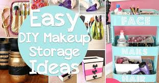 full size of makeup organizer diy dollar tree wood brush brilliant and easy storage ideas cute