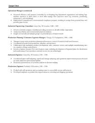 Experienced Manufacturing Manager Resume Business Continuity Plan